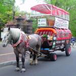 札幌で幌馬車の運行開始、春の観光シーズンが到来!